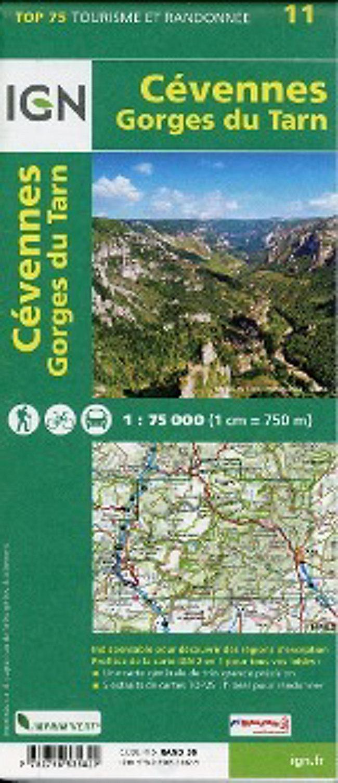 Cevennen Karte.Ign Karte Tourisme Et Randonnée Cevennes Gorges Du Tarn Buch