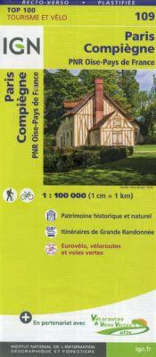 IGN Karte, Tourisme et vélo Paris Compiègne