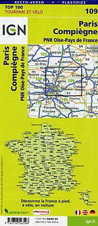 IGN Karte, Tourisme et vélo Paris Compiègne - Produktdetailbild 1