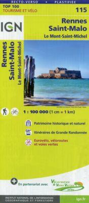 IGN Karte, Tourisme et vélo Rennes Saint-Malo