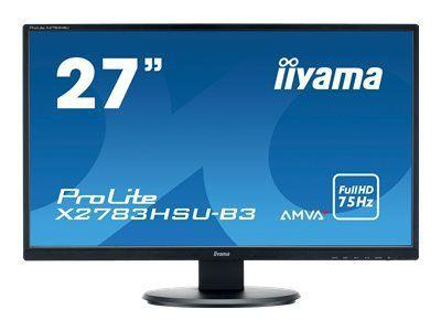 IIYAMA AMVA+ Panel- LED 4ms 1920x1080 300cd/m  3000:1 typisch VGA HDMI DisplayPort HDCP USB-HUB 2.0 (1x up 2x down)