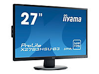 IIYAMA AMVA+ Panel- LED 4ms 1920x1080 300cd/m  3000:1 typisch VGA HDMI DisplayPort HDCP USB-HUB 2.0 (1x up 2x down) - Produktdetailbild 1