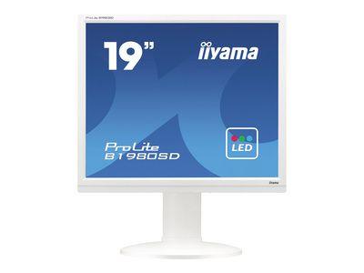 IIYAMA ProLite B1980SD 48,3cm 19Zoll LED 5ms DVI 250cd/m  Lautsprecher Hoehenv. Pivot Weiss