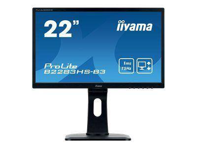 IIYAMA ProLite B2283HS-B3 54,7cm 21,5Zoll 16:9 FHD LED backlit monitor 1 ms 250cdm  12 Mio:1 HDMI VGA DisplayPort