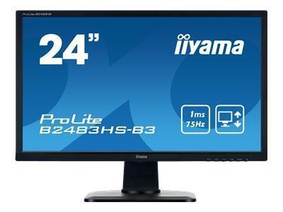 IIYAMA ProLite B2483HS-B3 61cm 24Zoll FHD LED-Monitor 1ms 12000000:1 16:9 250cd/m  VGA HDMI VESA
