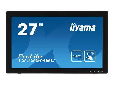 IIYAMA ProLite T2735MSC-B2 68,6cm 27Zoll 10 Punkt Multitouch kapazitiv 1920x1080 AMVA LED VGA DVI HDMI Webcam Mikrofon speaker