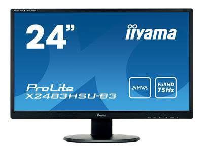 IIYAMA ProLite X2483HSU-B3 60,5cm 23,8Zoll 16:9 4ms 250cd/m  3000:1 80000000:1 HDMI DisplayPort HDCP USB-HUB 2.0