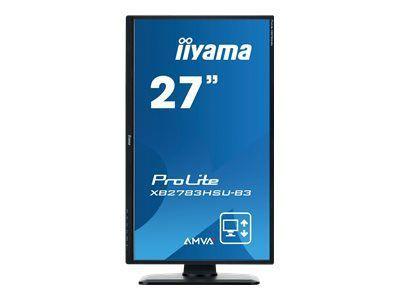 IIYAMA XB2783HSU 68,6cm 27Zoll AMVA+ LED 4ms 1920x1080 300cd/m  3000:1 VGA HDMI DP HDCP USB-HUB 2.0 KopfhöreranschluS HöhV.+ Pivot