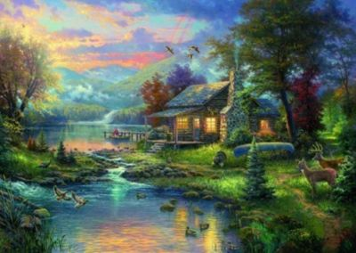 Im Naturparadies (Puzzle), Thomas Kinkade