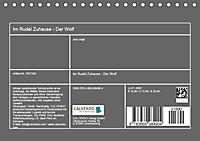 Im Rudel Zuhause - Der Wolf (Tischkalender 2019 DIN A5 quer) - Produktdetailbild 13