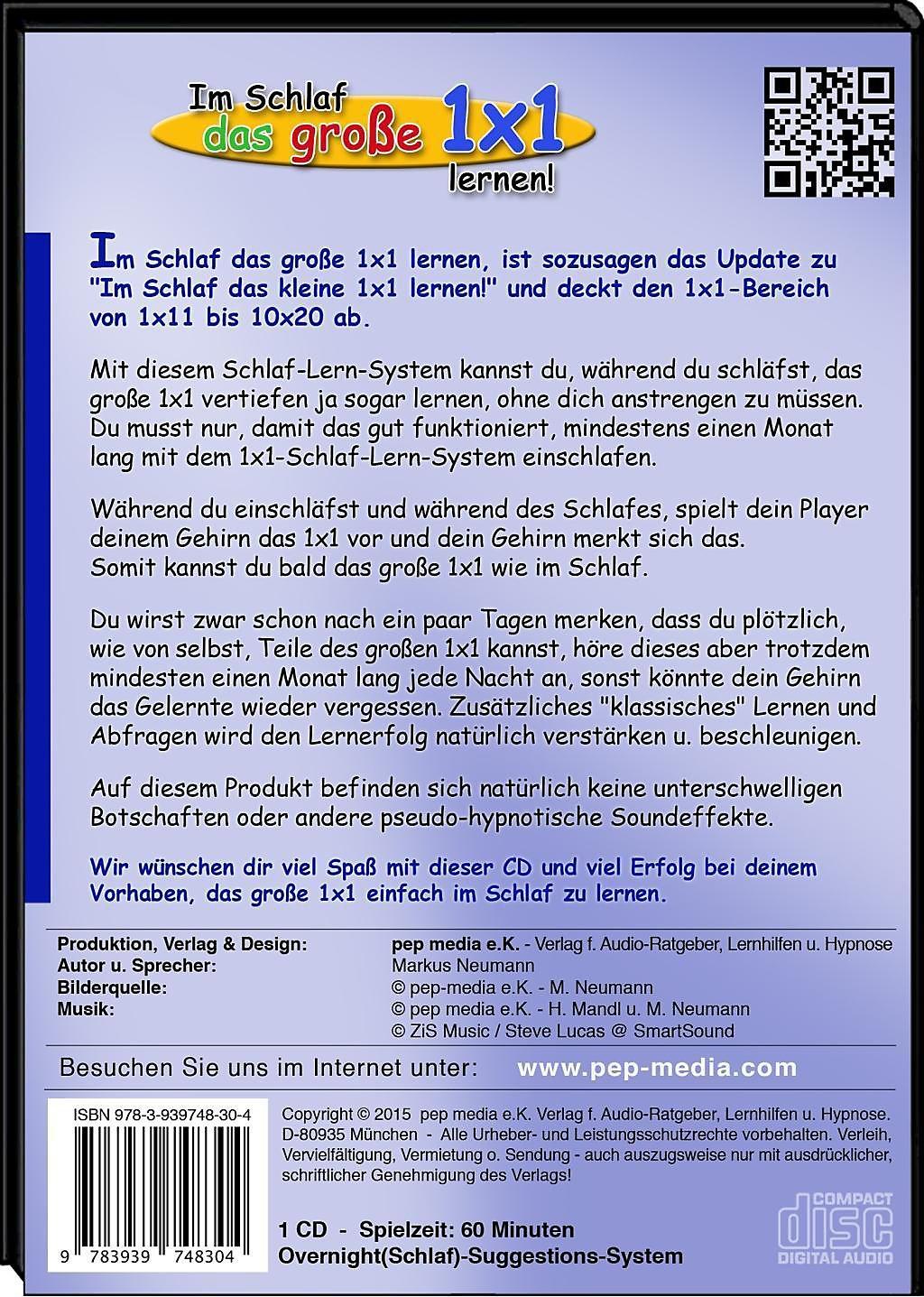 Im Schlaf Das Große 1x1 Lernen Audio Cd Hörbuch Weltbild De