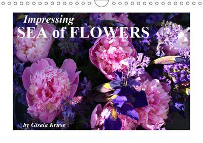 Impressing Sea of Flowers (Wall Calendar 2019 DIN A4 Landscape), Gisela Kruse