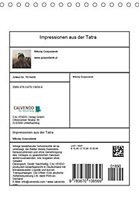 Impressionen aus der Tatra (Tischkalender 2019 DIN A5 hoch) - Produktdetailbild 3