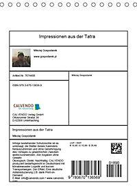 Impressionen aus der Tatra (Tischkalender 2019 DIN A5 hoch) - Produktdetailbild 13