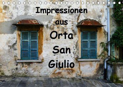 Impressionen aus Orta San Giulio (Tischkalender 2019 DIN A5 quer), Gabi Hampe