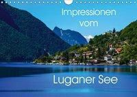 Impressionen vom Luganer See (Wandkalender 2019 DIN A4 quer), Gabi Hampe