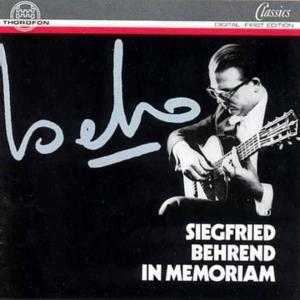 In Memoriam, Siegfried Behrend