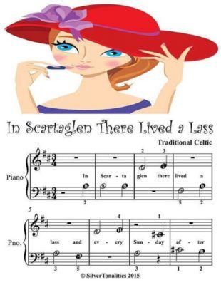 In Scartaglen There Was a Lass - Beginner Tots Piano Sheet Music, Silver Tonalities