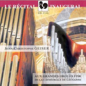 Inauguralkonzert, Jean-Christophe Geiser