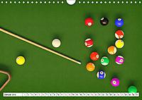 Indoor Aktivitäten. Billard, Darts und Bowling. Impressionen (Wandkalender 2019 DIN A4 quer) - Produktdetailbild 1