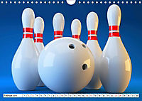Indoor Aktivitäten. Billard, Darts und Bowling. Impressionen (Wandkalender 2019 DIN A4 quer) - Produktdetailbild 2