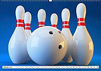 Indoor Aktivitäten. Billard, Darts und Bowling. Impressionen (Wandkalender 2019 DIN A2 quer) - Produktdetailbild 2