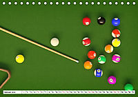 Indoor Aktivitäten. Billard, Darts und Bowling. Impressionen (Tischkalender 2019 DIN A5 quer) - Produktdetailbild 1