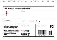 Indoor Aktivitäten. Billard, Darts und Bowling. Impressionen (Tischkalender 2019 DIN A5 quer) - Produktdetailbild 13