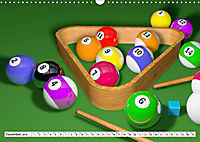 Indoor Aktivitäten. Billard, Darts und Bowling. Impressionen (Wandkalender 2019 DIN A3 quer) - Produktdetailbild 12