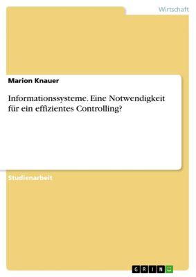 Informationssysteme. Eine Notwendigkeit für ein effizientes Controlling?, Marion Knauer