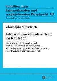 Informationsverantwortung im Kaufrecht, Christopher Dassbach