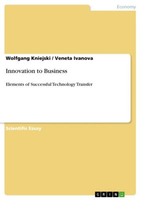 Innovation to Business, Wolfgang Kniejski, Veneta Ivanova
