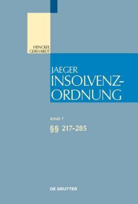 Insolvenzordnung: .Band 7 217-285
