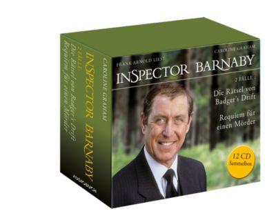 Inspector Barnaby - Die Rätsel von Badger's Drift und Requiem für einen Mörder (Sammelbox), 12 Audio-CDs, Caroline Graham