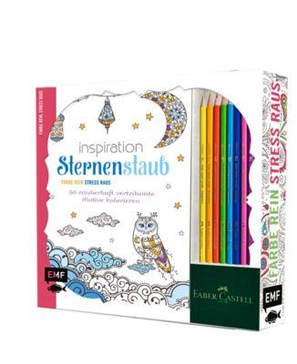 Inspiration Sternenstaub: 50 zauberhaft verträumte Motive kolorieren, m.8 Faber-Castell-Buntstiften, Edition Michael Fischer