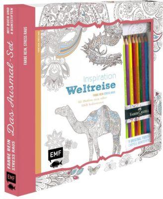Inspiration Weltreise - 50 Motive aus aller Welt kolorieren, m. 8 Faber-Castell-Buntstiften, Edition Michael Fischer