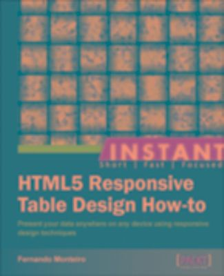 Instant html5 responsive table design how to ebook for Responsive table design