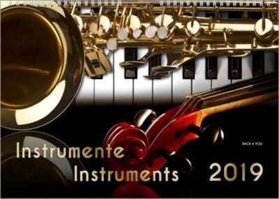 Instrumente - Musik-Kalender 2019, A3, Peter Bach