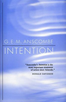 Intention, Gertrude E. M. Anscombe