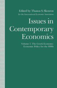 International Economic Association Series: Issues in Contemporary Economics