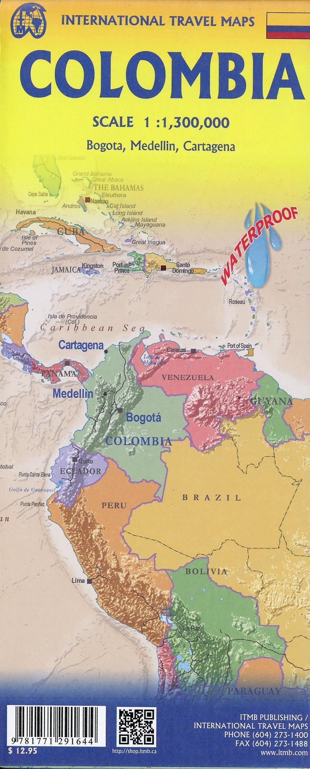 International Travel Map ITM Columbia Buch versandkostenfrei ...