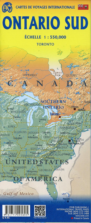International Travel Map ITM Southern Ontario Ontario Sud ...