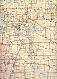 International Travel Map ITM Stadtplan Calgary & South Alberta - Produktdetailbild 2