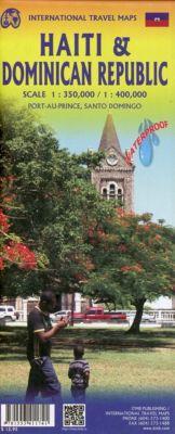 International Travel Map ITM Touristik Karte Dominican Republic & Haiti