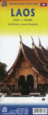 International Travel Map ITM Touristik Karte Laos