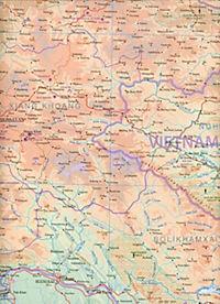 International Travel Map ITM Touristik Karte Laos - Produktdetailbild 2