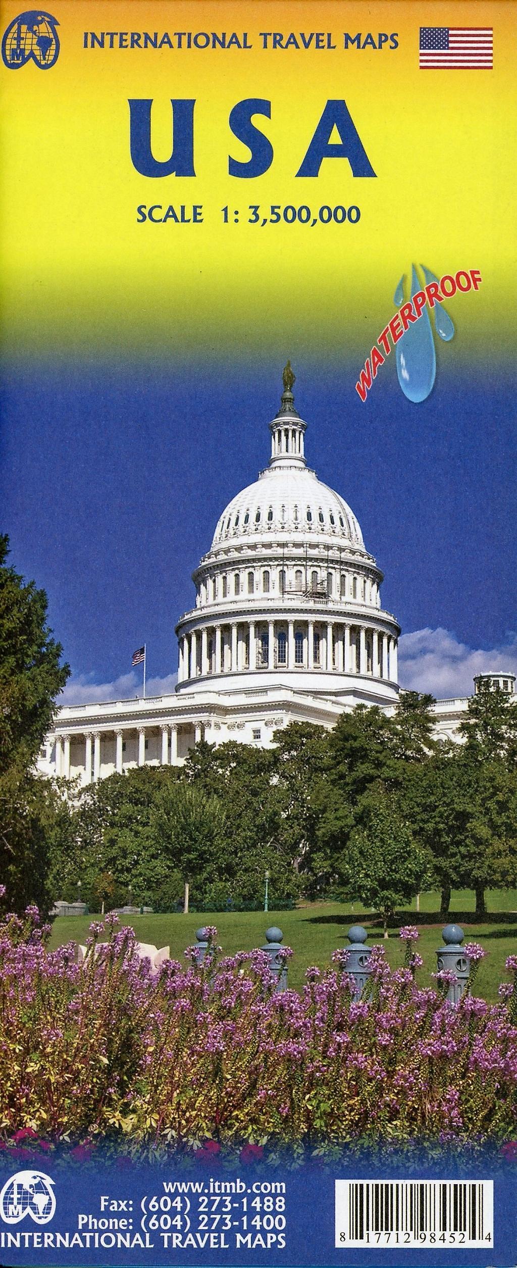 International Travel Map ITM Touristik Karte USA Buch portofrei