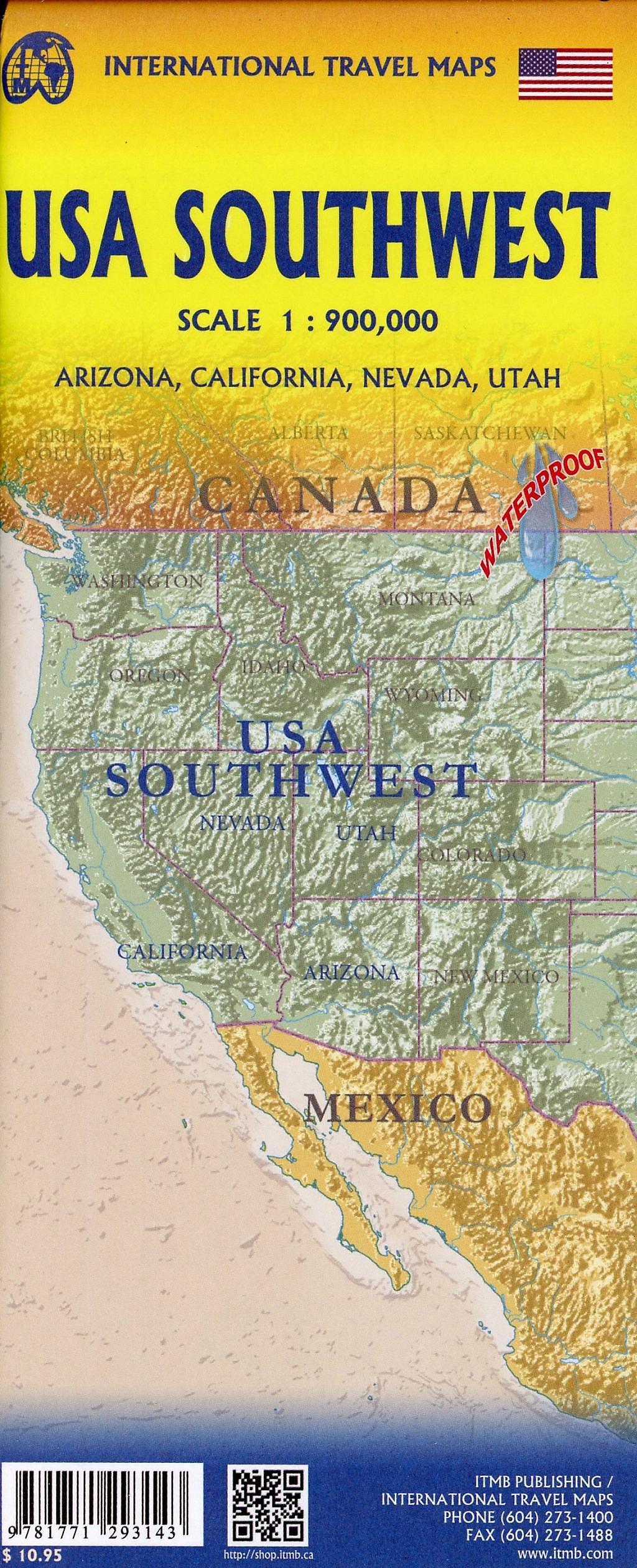 International Travel Map ITM USA Southwest Buch ...