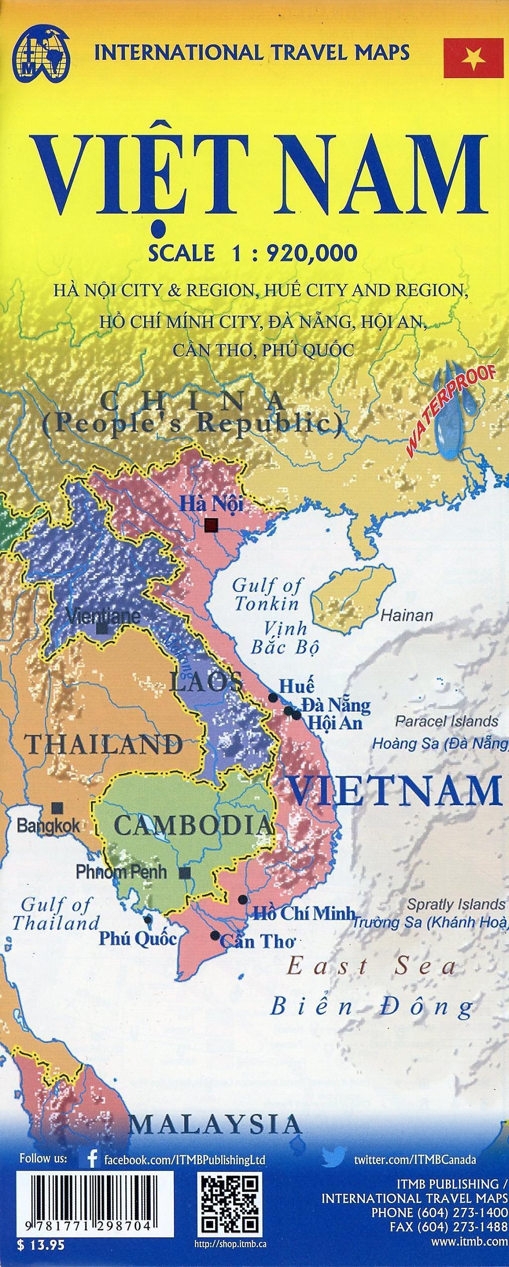 International Travel Map ITM Vietnam Buch bestellen ...
