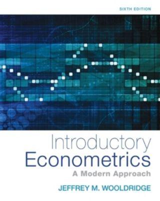 Introductory Econometrics, Jeffrey Wooldridge